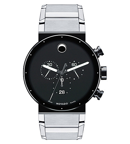 MOVADO 0606800 Sapphire Synergy stainless steel watch (Black