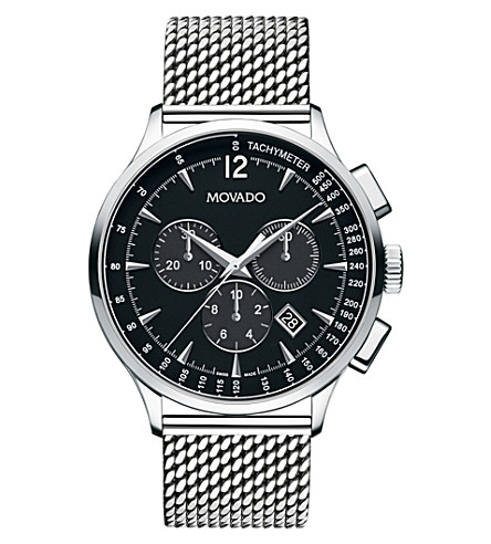 MOVADO 606803 Circa stainless steel chronograph watch