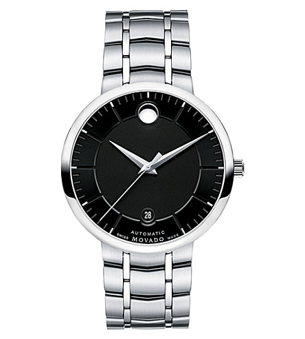 MOVADO 0606914 1881 automatic stainless steel watch (Black