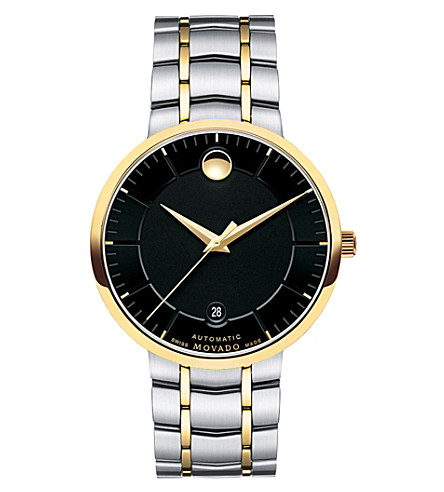 MOVADO 0606916 PVD gold-plated stainless steel watch (Black