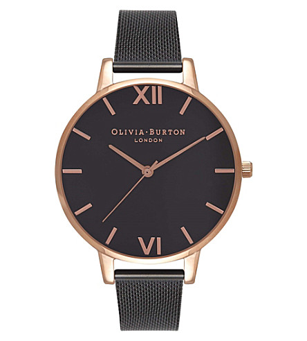 OLIVIA BURTON OB16BD92 rose gold-plated stainless steel watch