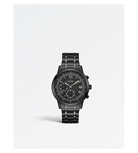 GUESS W1001G3 Iconic stainless steel chronograph watch