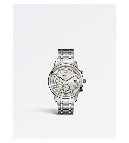 GUESS W1001G1 Iconic stainless steel chronograph watch
