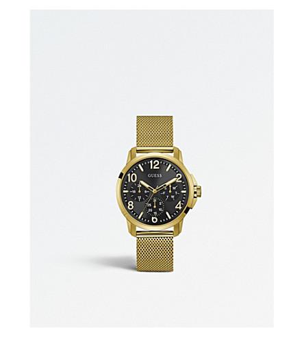 GUESS W1040G3 标志性不锈钢计时手表