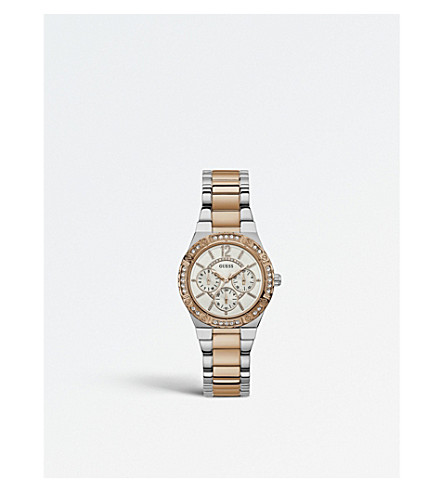 GUESS W0845L6 Iconic stainless steel and crystal watch