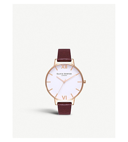 OLIVIA BURTON OB16BDW33 rose gold-plated and leather watch