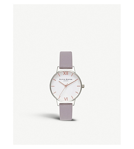 OLIVIA BURTON OB16MDW26 silver-plated and leather watch