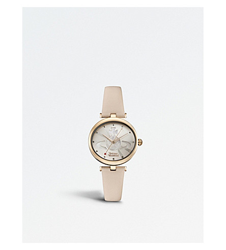 VIVIENNE WESTWOOD VV184LPKPK Belgravia PVD rose gold-plated leather watch