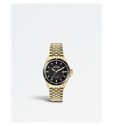 VIVIENNE WESTWOOD VV181BKGD Spitalfields PVD gold-plated watch
