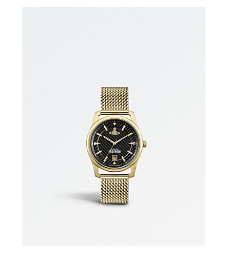 VIVIENNE WESTWOOD VV185BKGD Holborn PVD gold-plated watch