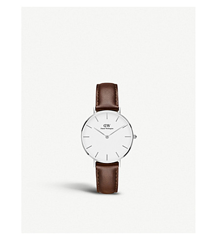 DANIEL WELLINGTON Classic Petite Bristol silver watch