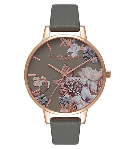 OLIVIA BURTON 674263 花卉玫瑰镀金真皮腕表