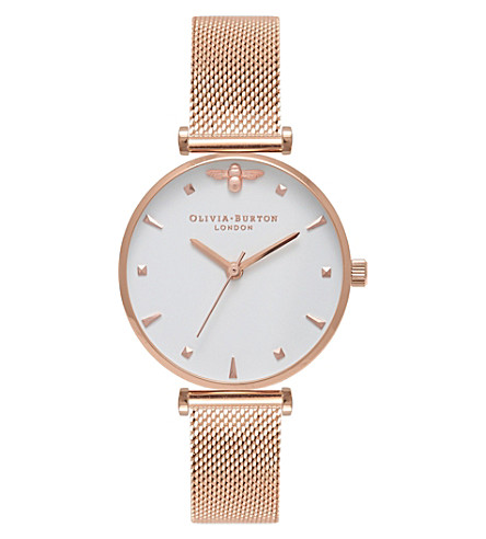 OLIVIA BURTON OB16AM105 Queen Bee rose gold-plated watch
