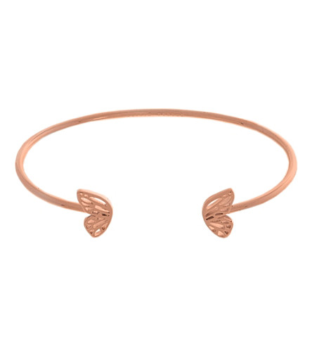 OLIVIA BURTON Butterfly-wing 18ct rose gold-plated bangle