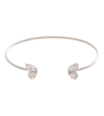 OLIVIA BURTON Butterfly Wing sterling silver open ended bangle