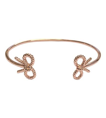 OLIVIA BURTON Vintage bow open ended 18ct rose-gold bangle