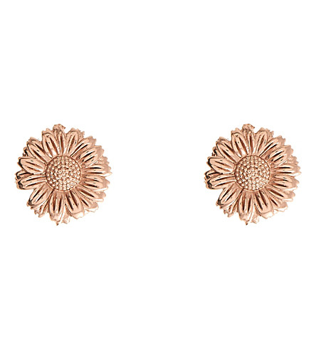 OLIVIA BURTON 3D daisy 18ct rose gold-plated stud earrings