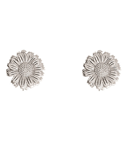 OLIVIA BURTON 3D Daisy silver stud earrings