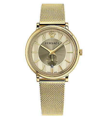 VERSACE Gold-plated stainless steel watch