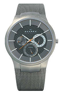SKAGEN 809XLTTM brushed titanium chronograph watch
