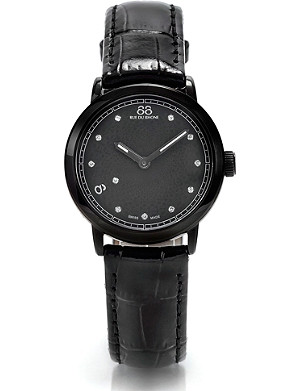 88 RUE DU RHONE 87WA120001 stainless steel and leather watch
