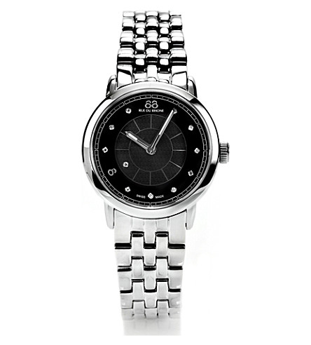88 RUE DU RHONE 87WA120003 stainless steel diamond-set watch (Silver
