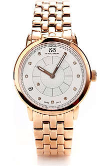 88 RUE DU RHONE 87WA120009 rose gold diamond-set watch