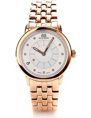 88 RUE DU RHONE 87WA120009 rose gold diamond-set watch