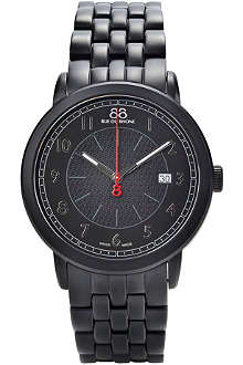 88 RUE DU RHONE 87WA120038 black stainless steel watch