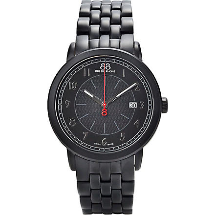 88 RUE DU RHONE 87WA120038 black stainless steel watch (Black