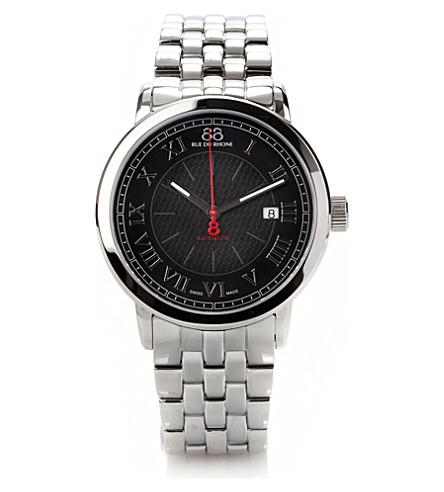 88 RUE DU RHONE 87WA120040 stainless steel automatic watch (Silver