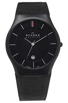 SKAGEN 956XLTBB carbon-coated stainless steel watch