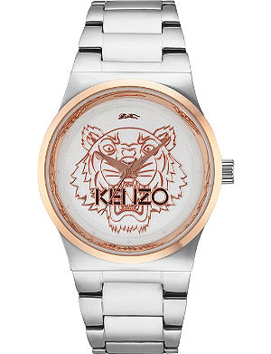KENZO 9600206 Stainless steel tiger head watch