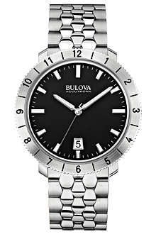 BULOVA 96B207 Moonview Accutron II stainless steel watch