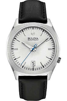 BULOVA 96B213 Surveyor Accutron II stainless steel and leather watch