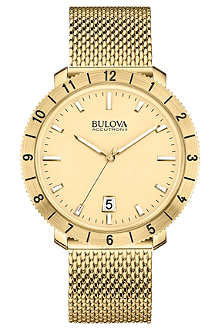 BULOVA 97B129 Moonview Accutron II yellow-gold PVD watch