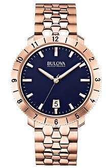 BULOVA 97B130 Moonview Accutron II rose-gold PVD watch