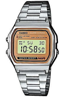 CASIO A158WEA9EF unisex stainless steel watch