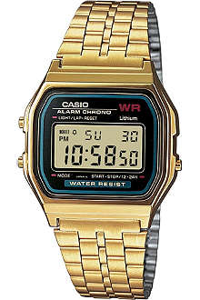 CASIO A159WGEA1EF unisex gold-plated digital watch