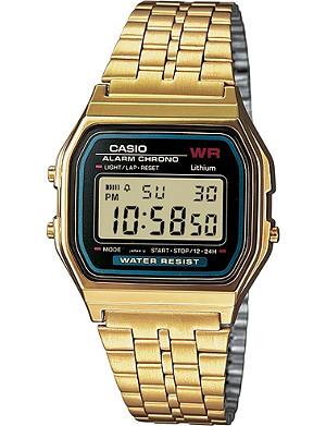 CASIO A159WGEA1EF unisex gold-plated digital watch