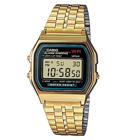 CASIO A159WGEA1EF unisex gold-plated digital watch (Gold