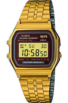 CASIO A159WGEA5EF unisex gold-plated digital watch