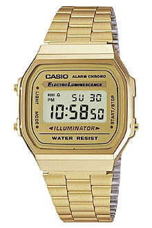 CASIO A168WG9EF unisex gold-plated digital watch