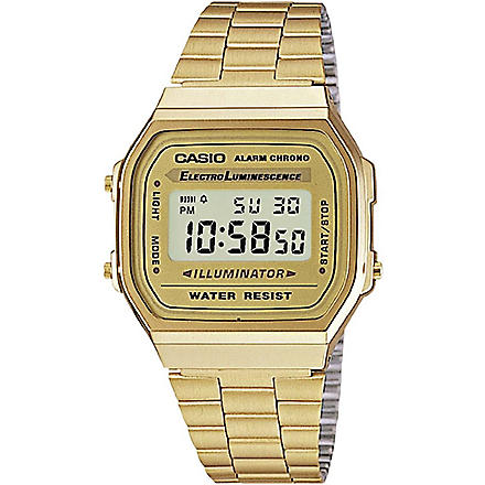 CASIO A168WG9EF unisex gold-plated digital watch (Gold