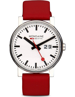 MONDAINE A6273030311SBC Evo Big Size leather watch