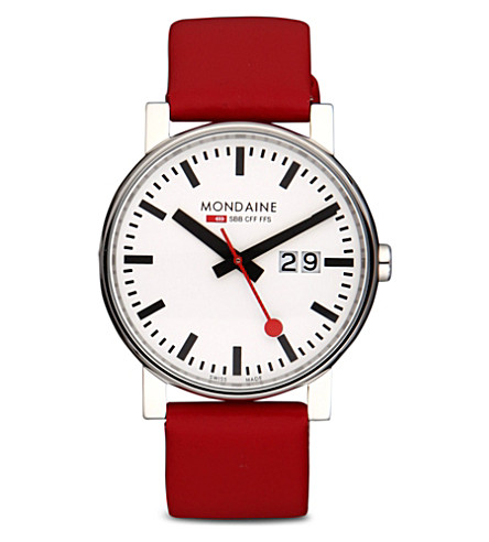 MONDAINE A6273030311SBC Evo Big Size leather watch (White