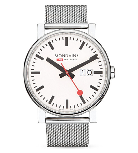 MONDAINE A6273030311SBB 大尺寸不锈钢腕表 (白色