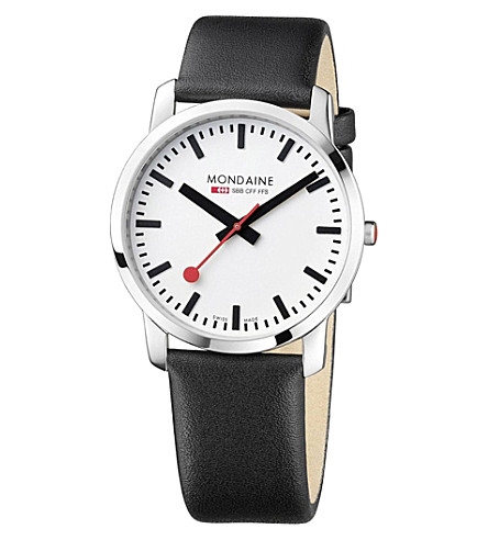 MONDAINE A6383035011SBB Simply Elegant stainless steel watch (White