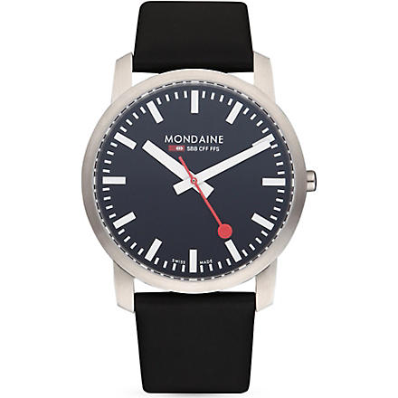 MONDAINE A6383035014SBB Simply Elegant stainless steel watch (Black