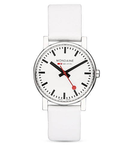 MONDAINE A6583030011SBN Evo leather watch (White